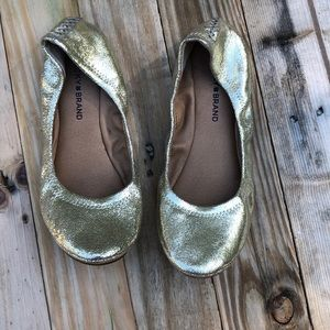 Lucky Brand | Elysia Gold Ballet Flats size 8.5